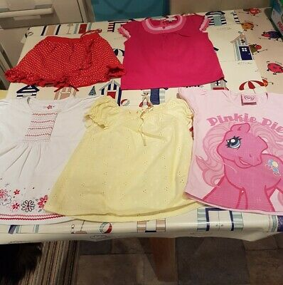 MOTHERCARE-M&S-NEXT&MORE Girls Bundle (x5) Skirt-Tops 2-3 Yrs-GC