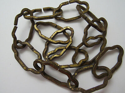 """Vintage Antique Chandelier Chain Large Italian  Cathedral Gold Gilt  22 1/2""""  A"""