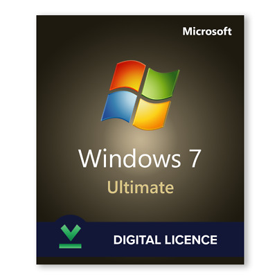 Microsoft windows 7 Ultimate 32/64 Bit (key+downloading link) with Scrap Drive