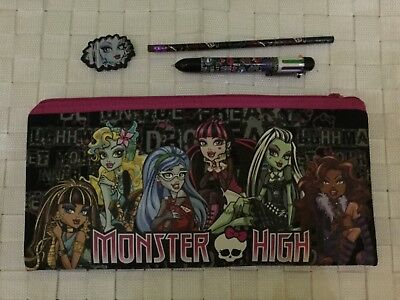 Monster High large pencil case & accessories new postage $8.55