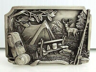 Siskiyou Buckle Company - Camping - Pewter - Vintage 1984 ~#1380