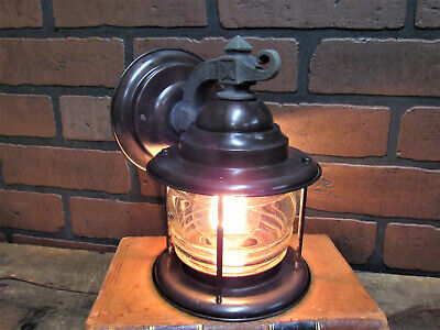 "Vintage Antique Copper Porch Light Craftsman Gothic Bungalow Rewired UL 8 3/8""T"