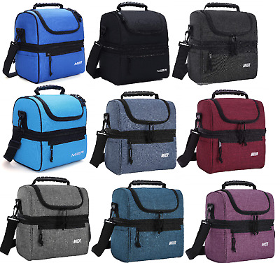 beebd18a0077 MIER ADULT LUNCH Box Insulated Lunch Bag Large Cooler Tote Bag for Men,  Women