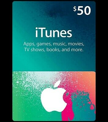 $50 US iTunes Gift Card Code or physical card