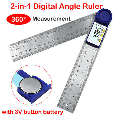 200mm 2 in1 Digital Angle Finder Meter Protractor Goniometer Ruler 360° Measurer