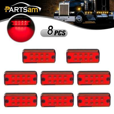 Amicable New Arrival 10pcs 6 Led Truck Lorries Bus Clearance Side Marker Indicators Light Lamp Amber White Truck Light Last Style Automobiles & Motorcycles