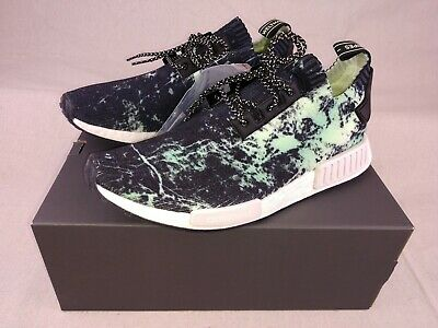 best service 43d46 74143 Adidas NMD R1 PK Primeknit Nomad Green Marble Flash BB7996 -Size 10