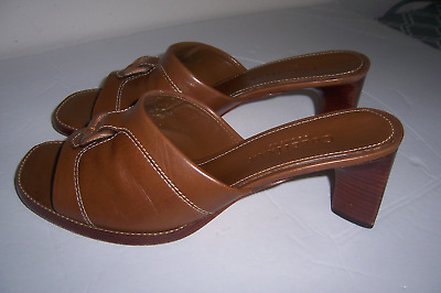 2878e512d11 NEW~ SANDALS~COLE HAAN~7 1 2 M~Brown Leather~Braided   Big Beads ...