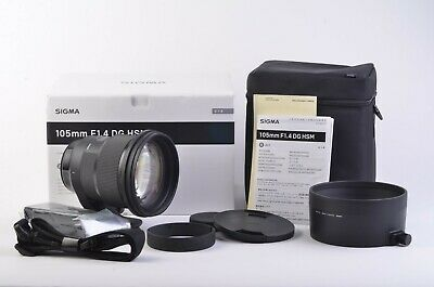 MINT BOXED USA SIGMA 105mm F1.4 DG HSM ART LENS FOR CANON EF MOUNT, COMPLETE