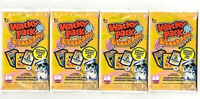 "2008 Wacky Packages Flashback Series 1 {FB1) Lot of ""Four NEW PACKS"" Free Ship"