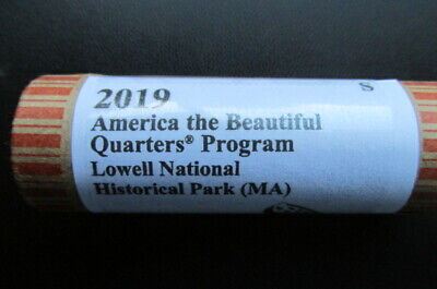 2019-S Lowell National Historical Park ATB Unc. Quarter: 40 Coin Roll. I.D.# BL