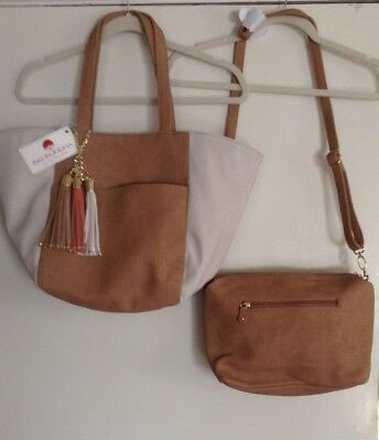 Big Buddha Women's  2 Tone Tote & Shoulder Bag - 2 Bags!  Brand New With Tags!