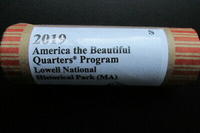 2019-S Lowell National Historical Park ATB Unc. Quarter: 40 Coin Roll. I.D.# BU