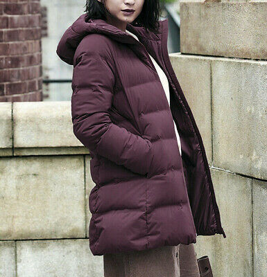NWT UNIQLO WOMEN Seamless Down Long Coat Water Repellent