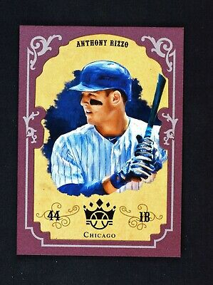 2019 Diamond Kings 2004 DK Retro Crowning Moment Framed Plum #AR Anthony Rizzo