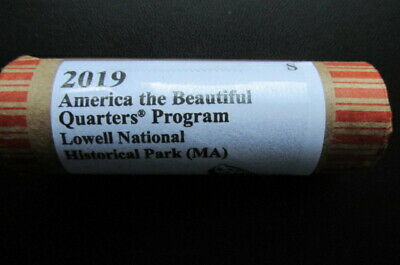 2019-S Lowell National Historical Park ATB Unc. Quarter: 40 Coin Roll. I.D.# GN