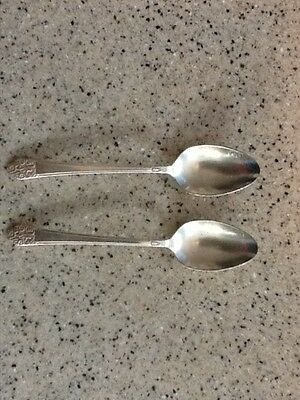 Wm. Rogers Silver Plated Soup/Dessert Spoons Precious 1941