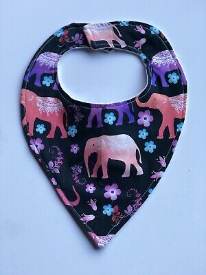 Baby Kids Infant Bib Soft Unique Cheap Cute And Quality Elephants Boho Colourful