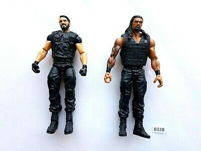 Seth Rollins and Roman Reigns The Shield Mattel WWE Wrestling Figures #B328 WWF