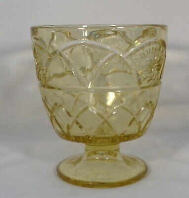 Rosemary Sugar Footed Amber Federal Glass 1935-37 Four Inches Tall