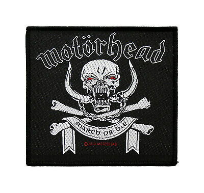 Motorhead Woven Sew On Patch - March Or Die Battle Jacket Patch #72