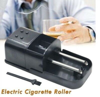 New Black Electric Cigarette Injector Machine tobacco Maker Rolling 2 Cigaretee