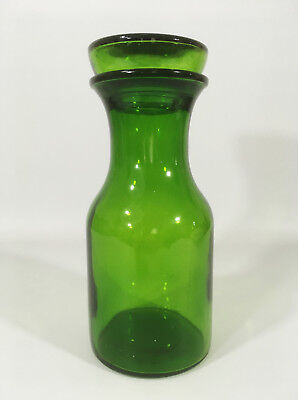 Large Vintage Green Glass Container Jar with Lid Made in Belgium Kitchenalia