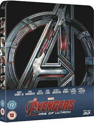 Avengers: Age Of Ultron Zavvi 3d & 2d Blu-Ray Steelbook Navi in 24 Ore