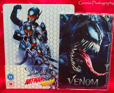 Ant-Man And The Wasp Zavvi Caja Metálica (3d/Blu-Ray) + Marvel Venom Art
