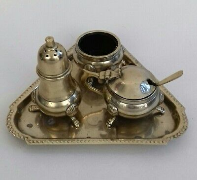 Vintage Epns Silver Plated  Set With A Tray