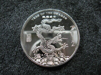 0.5 ozt SILVER 999 bullion coin 2012 Year of the Dragon Chinese Zodiac