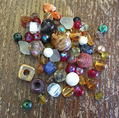 Vintage Old Japan German Mixed Glass & Some Lucite Bead Collection Soup Lot