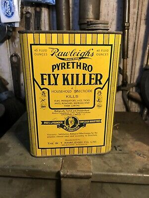 Rawleigh's Fly Insecticide Vintage 40floz Tin