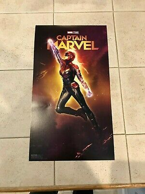 Captain Marvel Movie mini Poster Print Cosmic Loot Crate February 2019 New