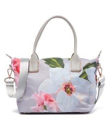 27312a791 NWT-Ted Baker Women s ORSJA Chatsworth Bloom Small Nylon Tote - Mid Grey   129
