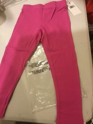 FRENCH TOAST Girls Solid Leggings, Med Pink, 6 - NEW