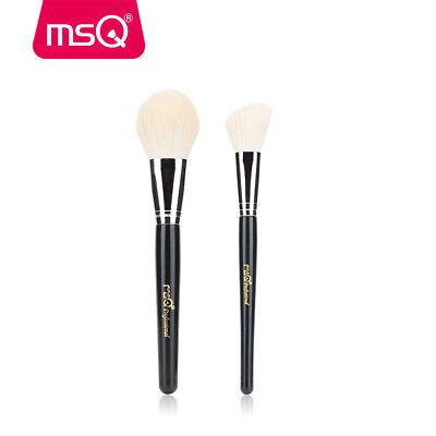 MSQ 2Pcs Makeup Brush Sets Kabuki Powder Brush Contour Face Blusher Brushes Tool