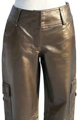 Cache Dark Gold Butter Leather Lined Cargo Pant NWT Motorcycle Sz XS/S/M/L $268