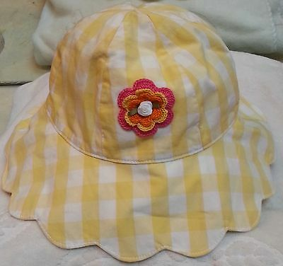 Gymboree Friendship Camp Olive Green Hat//Cap w//Pink Flower 3-4 5-7 8 /& Up NEW