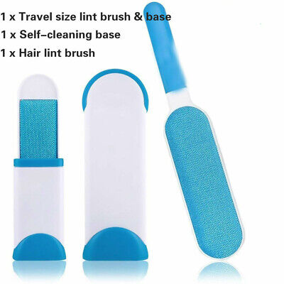 Pet Hair Brush Fur Dog Comb Cat Base Double-Side Clothes Cleaning Lint Remover