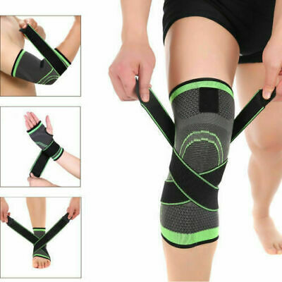 3D Compression Sleeve Wrist/Elbow/Knee/Ankle Support Brace Strap Protector New