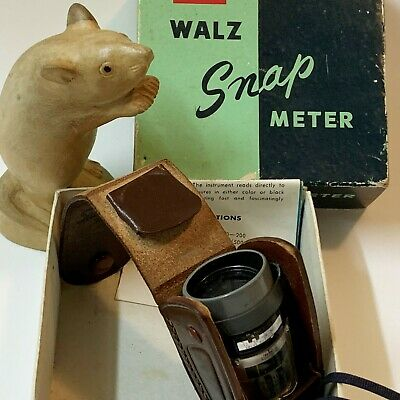 Vintage Photography Collectible - WALZ Snap Light Meter, Orig Box & Insts