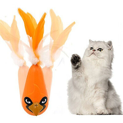Cat Toys CreativeDaruma Electronic Pet Toys Feather Funny Tumbler Kitten Toys UK