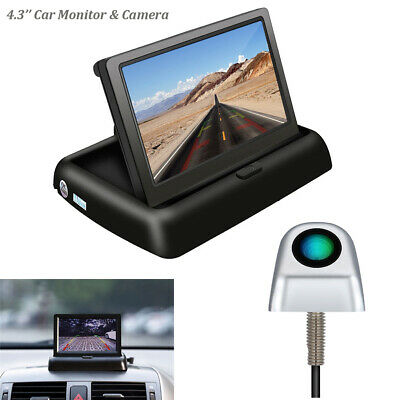 4.3 Inch TFT LCD Color Display Car Rear View Foldable Monitor Wired Camera Kits