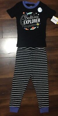 Carters Baby Boys 2 Piece Set Clothes 18 months Glow in the Dark Blue