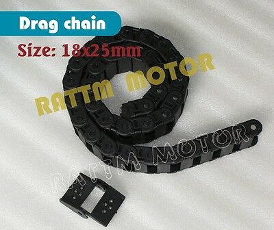 R75 18x18 to 18x50 Semi-Enclosed Interior Opening Towline Cable Drag Chain R28