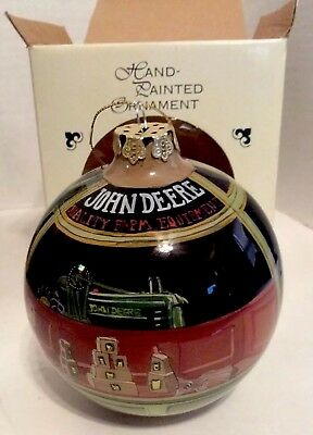 John Deere Hand Painted Ornament Walter Haskell Hinton's A Friend In Need