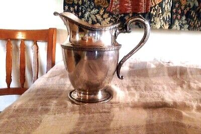 1950's Vintage Reed & Barton Silver Plate Water Pitcher' 9""
