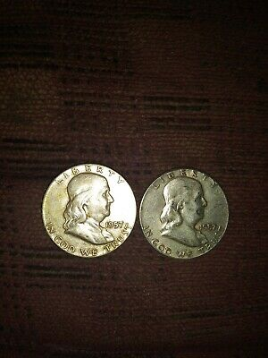 Better date 1957 P Franklin Half Dollar 90 % Silver US Coin