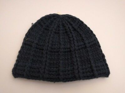 4ae9b23dad2a3 Aeropostale Mens chunky knit Beanie Cap Winter Hat Navy New